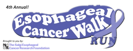 4th Annual Esophageal Cancer Walk/Run hosted by The Salgi Esophageal Cancer Research Foundation. Register online: salgiwalkrun2015.eventbrite.com