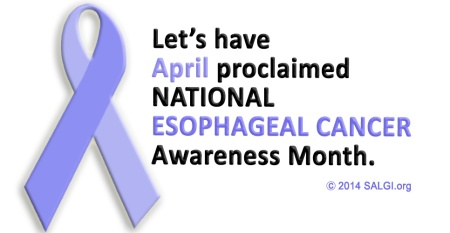 APRIL is esophageal cancer awareness month every day is esophageal cancer awareness day periwinkle allperiwinkleverything health
