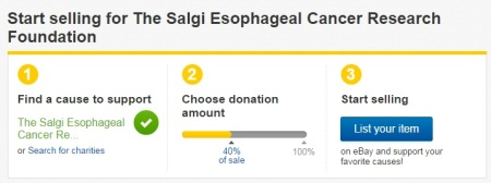 Ebay Giving Works The Salgi Esophageal Cancer Research Foundation Charity 501c3 nonprofit