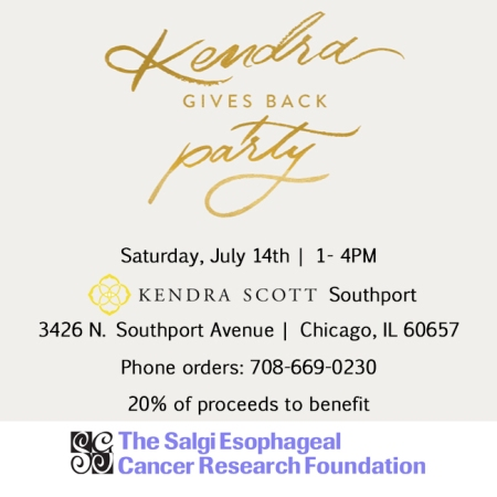 Kendra Scott Fundraising Event in Chicago, IL benefiting The Salgi Esophageal Cancer Research Foundation